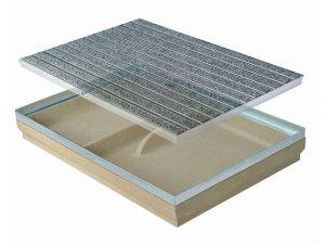 Polymeer beton voetenschrapers